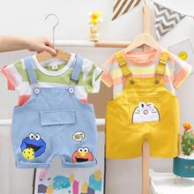 Zestawy ubrań dla niemowląt letnie ubrania dla niemowląt chłopcy dla niemowląt bawełniane koszulki dla chłopców T-shirt + stroje do pończoch zestaw ubrań dla dzieci tanie tanio KEAIYOUHUO COTTON Na co dzień O-neck Swetry Krótki REGULAR Pasuje prawda na wymiar weź swój normalny rozmiar Czesankowej