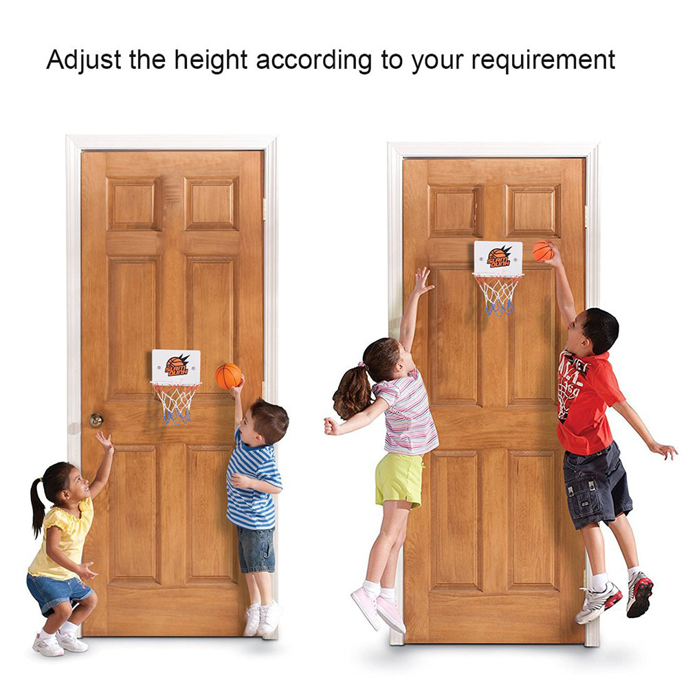 Children Kids Mini Basketball Hoop Toys Suck Wall-Mounted Stand With Pump Sport Toy Set FOU99