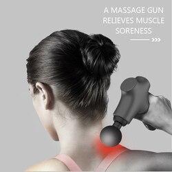 Электрический массажный пистолет-светильник для мышц, удобный низкий уровень шума, глубокий стимулятор мышц, расслабляющий, снимающий уста...