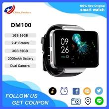 DM101 4G LTE Smart Watch Phone Android 7.1 Quad Core 1GB 16GB RAM 3GB 32GB frequenza cardiaca 2.4 ''schermo quadrato Smartwatch VS DM100