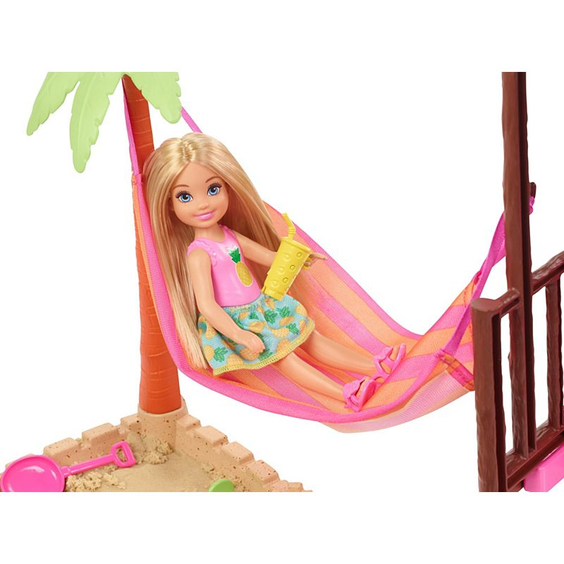 Original Chelsea Club Barbie Doll Beach House Toys for Children Playset with Clothes Dolls Accessories Toy