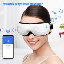Bluetooth Electric Vibration Eye Massager Wrinkle Fatigue Relieve Eye Care Device Vibration Massage Compress Eyes Therapy Glasse electric facial massager for eyes lips anti aging wrinkle eye patch dark circle remover pen ion import eyes care massage device