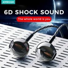 Joyroom 3.5 مللي متر السلكية سماعات الأذن في الأذن ل شاومي سامسونج الهاتف الكمبيوتر في الأذن الرياضة سماعات مع ميكروفون ستيريو