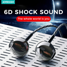 Joyroom 3.5mm Wired Earbuds Earphones In Ear For Xiaomi Samsung Phone Computer In Ear Sport Earphones With Microphone Stereo