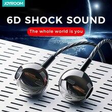 Joyroom 3.5mm kablolu kulakiçi kulaklık kulak Xiaomi Samsung için telefon bilgisayar kulak spor kulaklık mikrofon ile stereo