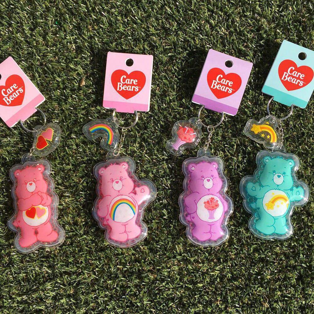 2019 New Care Bears Key Chain Gift Rainbow Bear Doll Key Ring Clothes And Bag Hanging Decorations Fashion Accessories Keyring