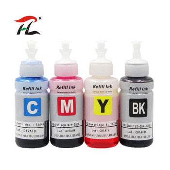 4 Colors Dye Based refill ink kit for Epson L100 L110 L120 L132 L210 L222 L300 L312 L355 L350 L362 L366 L550 L555 L566 printer mfd epson l566 printing factory 0 0 12