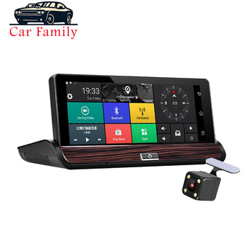 Car DVR Full HD 7 Inch 3G Touch Screen Android 5.0 Digital Video Recorder With WIFI Bluetooth GPS Navigation Dual Lens Dash Cam