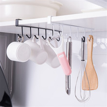 Free of Punch Storage Shelf Hanging Cap Paper Shelves Kitchen Multifunction Hanger Cabinet Hook for Kitchen Bearing stronger