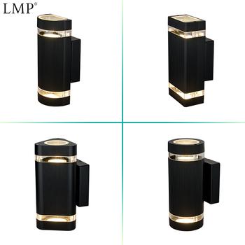 LMP zewnątrz doprowadziły światła do góry w dół ściany oświetlenie weranda Lampe Korridor światła zewnętrzne Aluminium Wasserdichte Beleuchtung tanie i dobre opinie CN (pochodzenie) ROHS Pieczenie w aluminium ZY-B1046 IP65 110-240 v Lampy ścienne Z aluminium Nowoczesne Żarówki LED