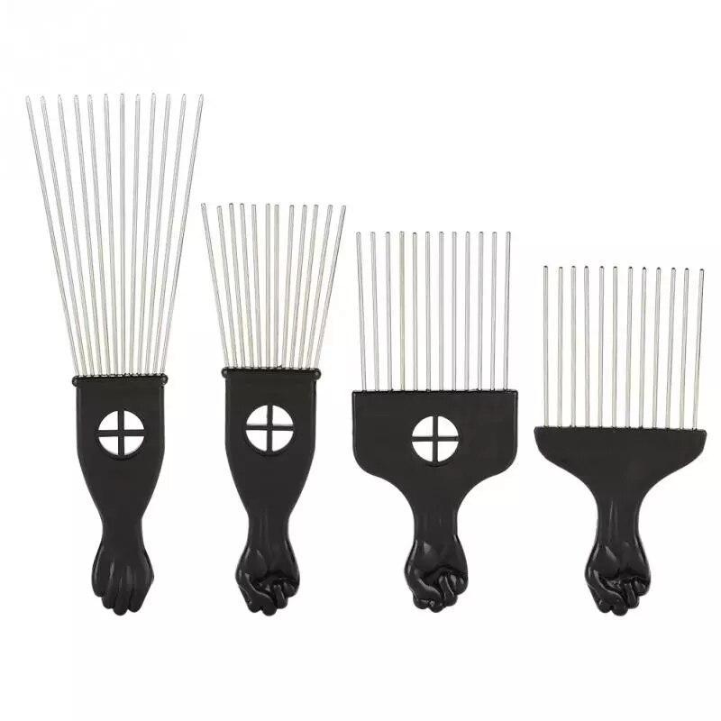 Расческа для парикмахерских, щетка с широкими зубьями из черного металла для афроамериканских палочек, инструмент для укладки