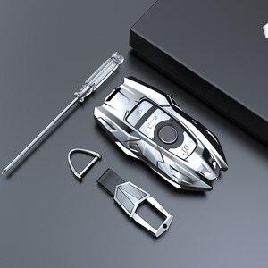 Nowy stop cynku obudowa kluczyka do samochodu pokrowiec na BMW 520 525 F10 F30 F18 118i 320i 1 3 5 7 serii X3 X4 M3 M5 klucz osłona zabezpieczająca