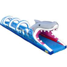 Commercial Shark Water Inflatable Slide Giant Toy