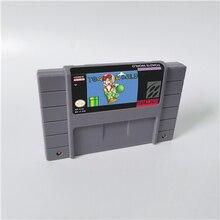 ヒキガエル世界またはwarios森やwarios土地スーパーマリ土地 3 rpgゲームカードus版英語言語バッテリーセーブ