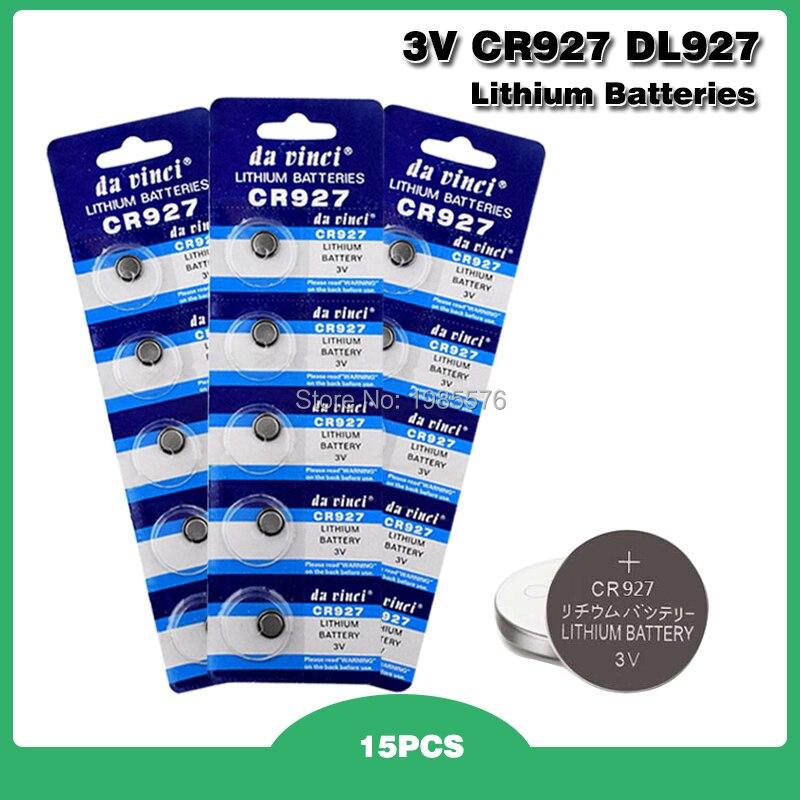 15 unidades/pacote CR927 5011LC ECR927 BR927 Lithium Botão Bateria de Célula tipo Moeda Baterias 3V CR 927 DL927 Para Relógio Eletrônico de Brinquedo Remoto