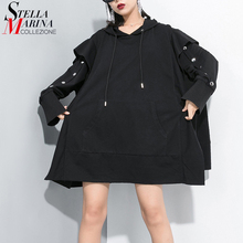 New 2020 Woman Autumn Winter Plus Size Black Pullover Hoodies Hipster Hooded Lad
