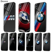 Cool bmw Tempered Glass phone case For iPhone