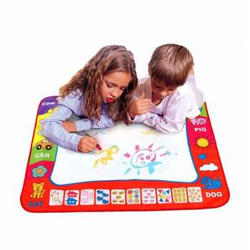 Magic Water Drawing Mat Coloring Doodle Carpet with 4 Magic Pens & Stamps Painting Drawing Board Toys Gift for Kid Big Size kid water drawing mat doodle board