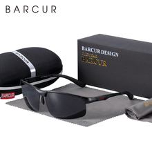 BARCUR Sports Aluminium Sunglasses Men Polarized Man Sunglasses Brand Driving Eyewear