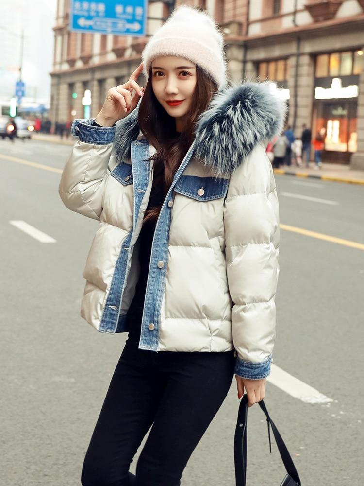 Winter Coat Female Streetwear Real Raccoon Fur Hooded Duck Down Jacket Women Clothes 2020 Korean Thick Wam Down Parka Hiver 1101