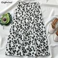 Röcke Frauen Floral Freizeit Chic Süße Mini Rock Sommer Hohe Taille Elegante A-line Mädchen Koreanische Stil Täglichen Streetwear Ulzzang