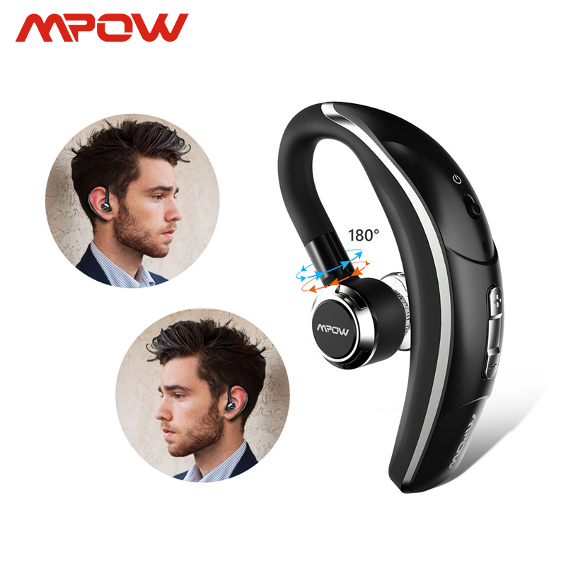 Mpow BH028 Wireless Single Car headphone Portable Handsfree bluetooth 4.1 180 Rotation Earbuds Earphones With Mic For iPhone X 8
