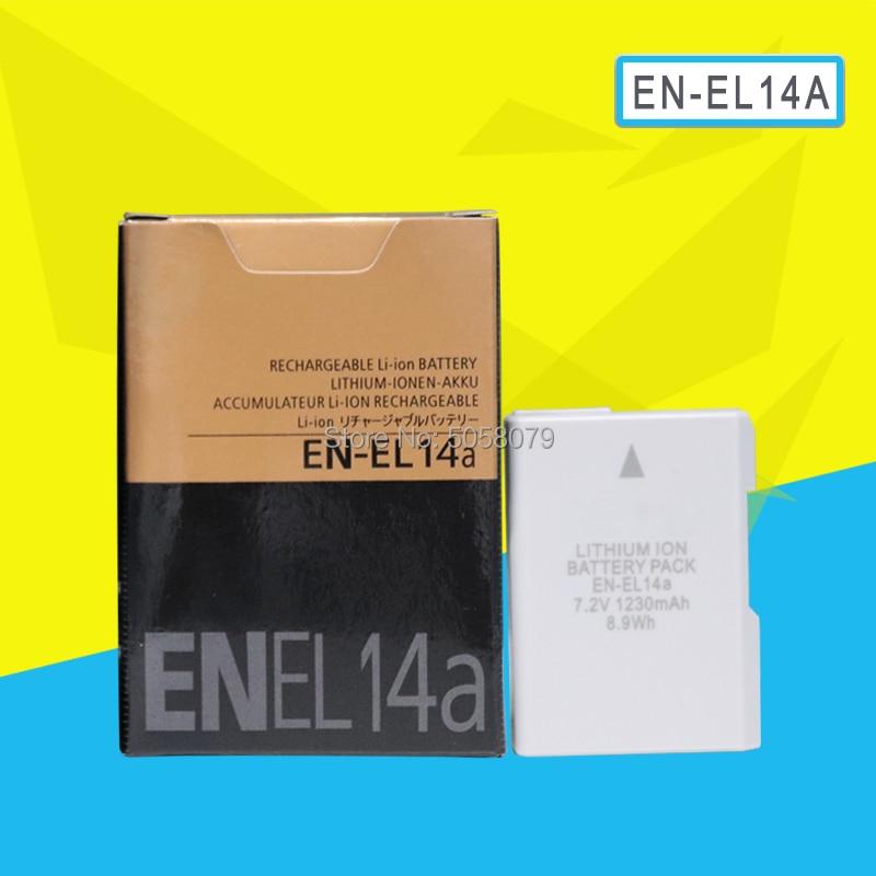 EN-EL14A ENEL14 RU EL14A 1230 мА/ч, Камера Батарея для Nikon D5500 D5300 D5200 D3200 D3300 D5100 P7800 P7700 P7100 P7000