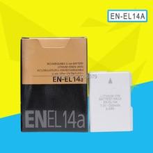 Аккумулятор для камеры ENEL14 EN EL14A, аккумулятор 1230 мАч для Nikon D5500 D5300 D5200 D3200 D3300 D5100 P7800 P7700 P7100 P7000