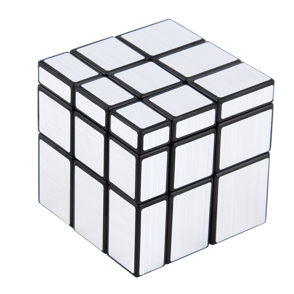 3x3x3 Mirror Blocks Silver Shiny Magic Cube Puzzle Brain Teaser IQ Kid Funny New Hot