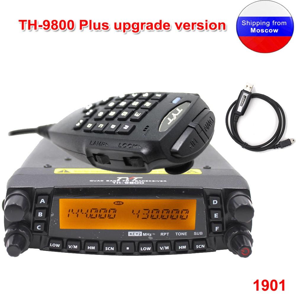 Latest version TYT TH-9800 Mobile radio 50W Quad Band 29/50/144/430MHz walkie talkie 2-Tone/5-Tone FM Transceiver