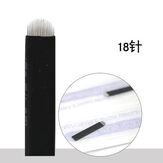 0.18mm 7 9 11 12 14 U shape Permanent Makeup Eyebrow flex Tattoo Needles Blade For 3D Microblading lamina blade  Agulhas Tebori 4