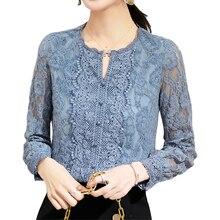 Lace bottom Blouses Shirt Women Floral Blouses