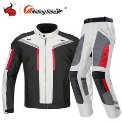 Riding Tribe Motorcycle Jacket Men Waterproof Windproof Moto Jacket Riding Racing Motorbike Clothing Protective Gear M-4XL Size