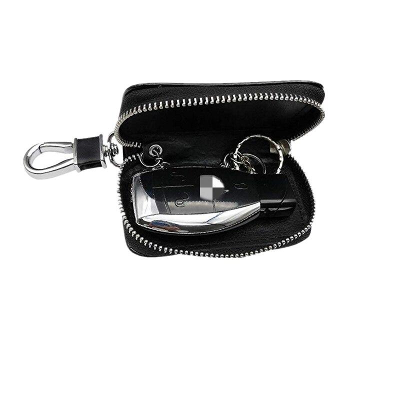 プレミアム革車のキーチェーンコインホルダージッパーケース財布バッグ車のキーホルダー家政婦