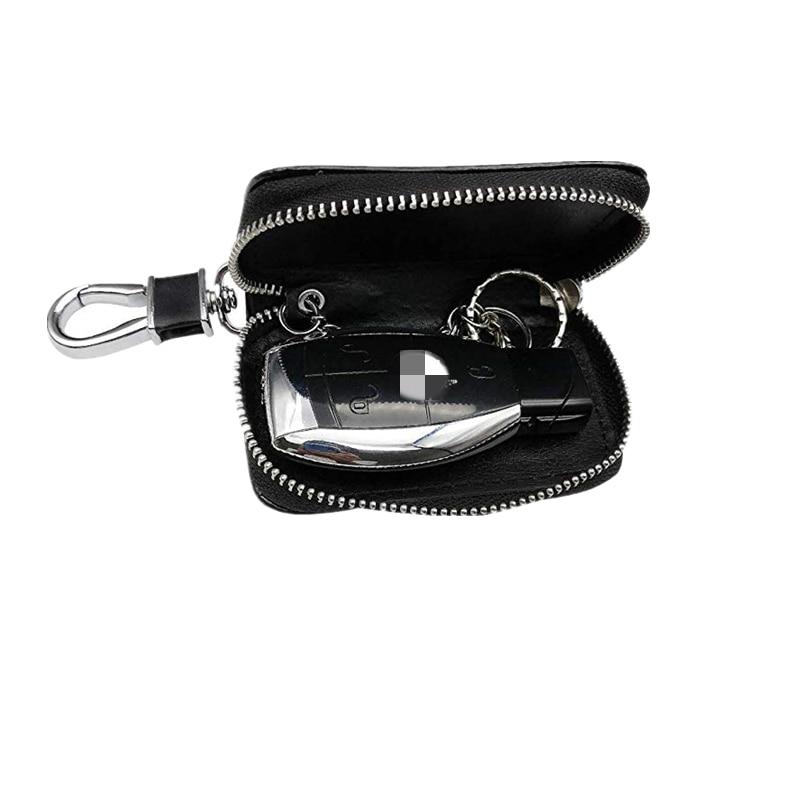 พรีเมี่ยมหนังเหรียญ Holder Zipper Case REMOTE Wallet กระเป๋ารถคีย์ผู้ถือแม่บ้าน