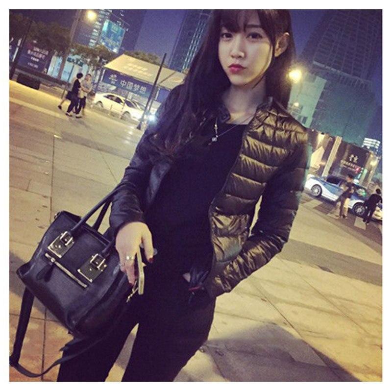 Women Short Fund Cotton Loose Coat Winter Warm Ultra-thin Lightweight Jacket Slim Long Sleeve Zipper Coats Jacket