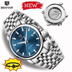 Image 1 - 2019 New BENYAR men automatic mechanical watches men watches Top brand luxury mens watch military wristwatch Relogio Masculino