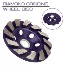 "4 ""100 Mm 1 Buah Diamond Grinding Wheel Disc Bowl Bentuk Grinding Cup Beton Granit Batu Cutting Disc buah Power Alat(China)"