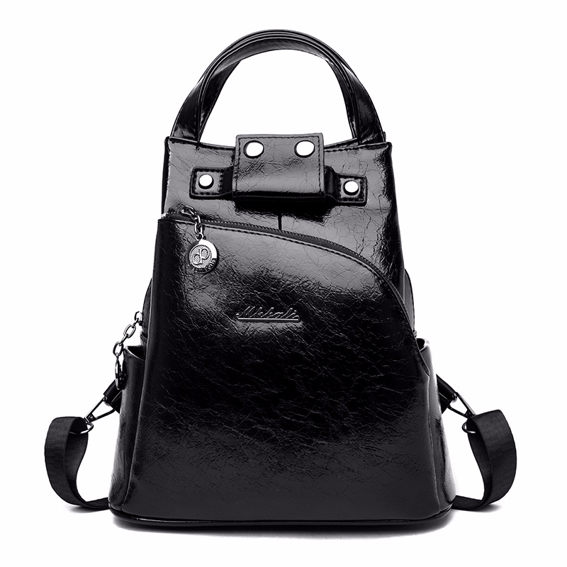 He4da50cb6503441396f3b6a258768654f - Women Leather Backpacks High Quality Sac A Dos Anti-theft Backpack For Girls Preppy School Bags For Girls Casual Daypack