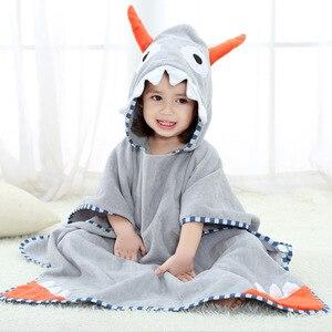 Детское пляжное полотенце с изображением героев мультфильмов, хлопковые банные халаты для девочек, пончо с капюшоном для мальчиков, банные ...