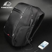 """Kingson 15 """"17"""" محمول على ظهره الخارجية USB تهمة الكمبيوتر حقائب الظهر مكافحة سرقة حقائب مقاومة للماء للرجال النساء"""