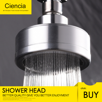 Space Aluminum Round Water Saving Shower Head with Shower Filter Detachable Can Be Cleaned