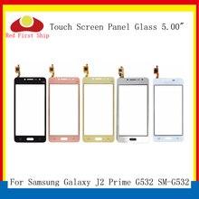10 adet/grup G532 dokunmatik ekran için Samsung Galaxy J2 başbakan G532 SM G532 dokunmatik ekran Digitizer paneli sensörü ön cam dış Lens