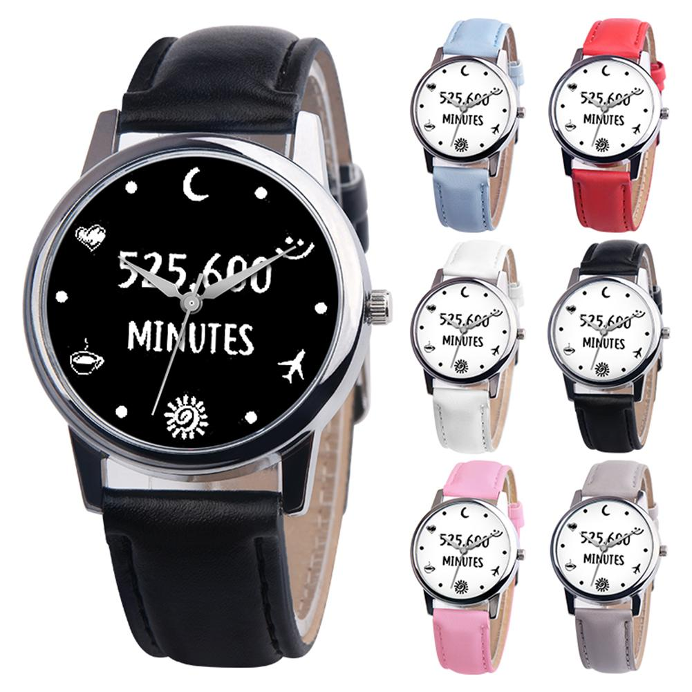 Simple Number Letter Dial Men Women Faux Leather Band Quartz Wrist Watch Gift Couple Watch Lover Male Female Пара смотреть 커플 시계