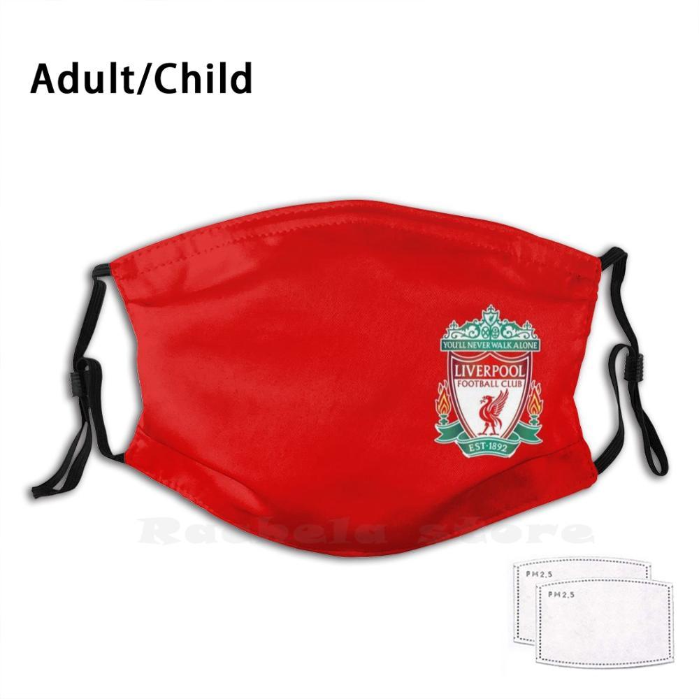 LiverpoolLogo-Красного цвета со смешным рисунком многоразовые Pm2.1936 фильтр маска для лица футбол футбольная команда