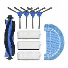 Principal escova lateral escova hepa filtro mop substituição para cocotec conga 1090 1790 ultra robótico aspirador de pó peças reposição