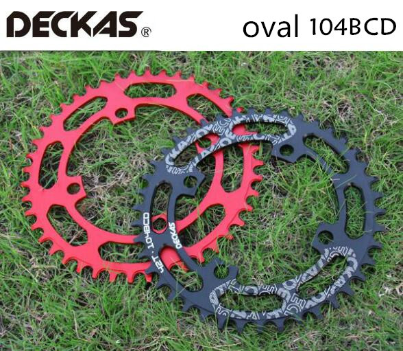 DECKAS Round Oval 104BCD 40/42/44/46/48/50/52T Mountain Bicycle Chainring MTB Bike For Shimano 8-12S Crankset Aluminum Crown
