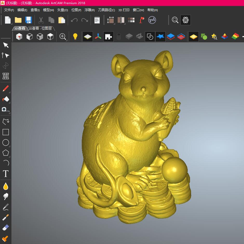 Not A Real Product, It Is Just A Design ,Computer File,STL Format File 3d Model Relief For Cnc In STL File Format Lucky Mouse