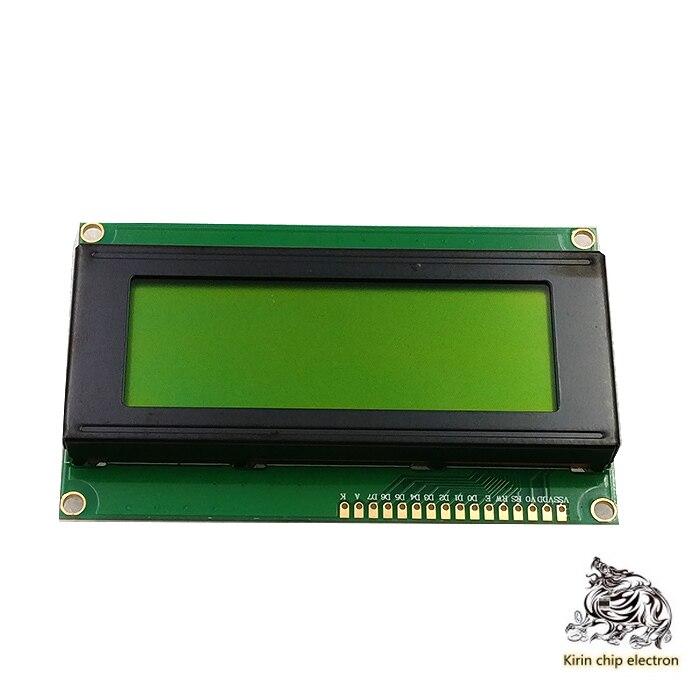 5 шт./лот 2004 ЖК-дисплей 2004a ЖК-дисплей 2004 ЖК-дисплей модуль 5V желто-зеленый экран 20х4, ЖК-дисплей