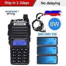 2020 Baofeng UV 82 Plus 8 W 10KM longue portée puissant talkie walkie Portable CB vhf/uhf ptt Radio bidirectionnelle Amador 8 watts duv82
